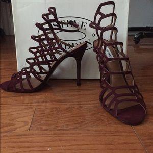 Maroon Steve Madden size 10 caged heels (Slithur)
